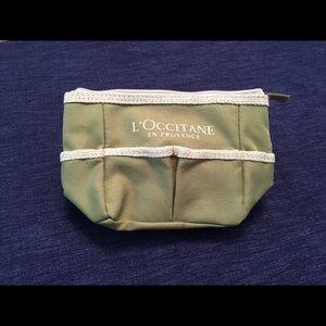 NEW! L'Occitane Zipper Green Color Cosmetics Pouch